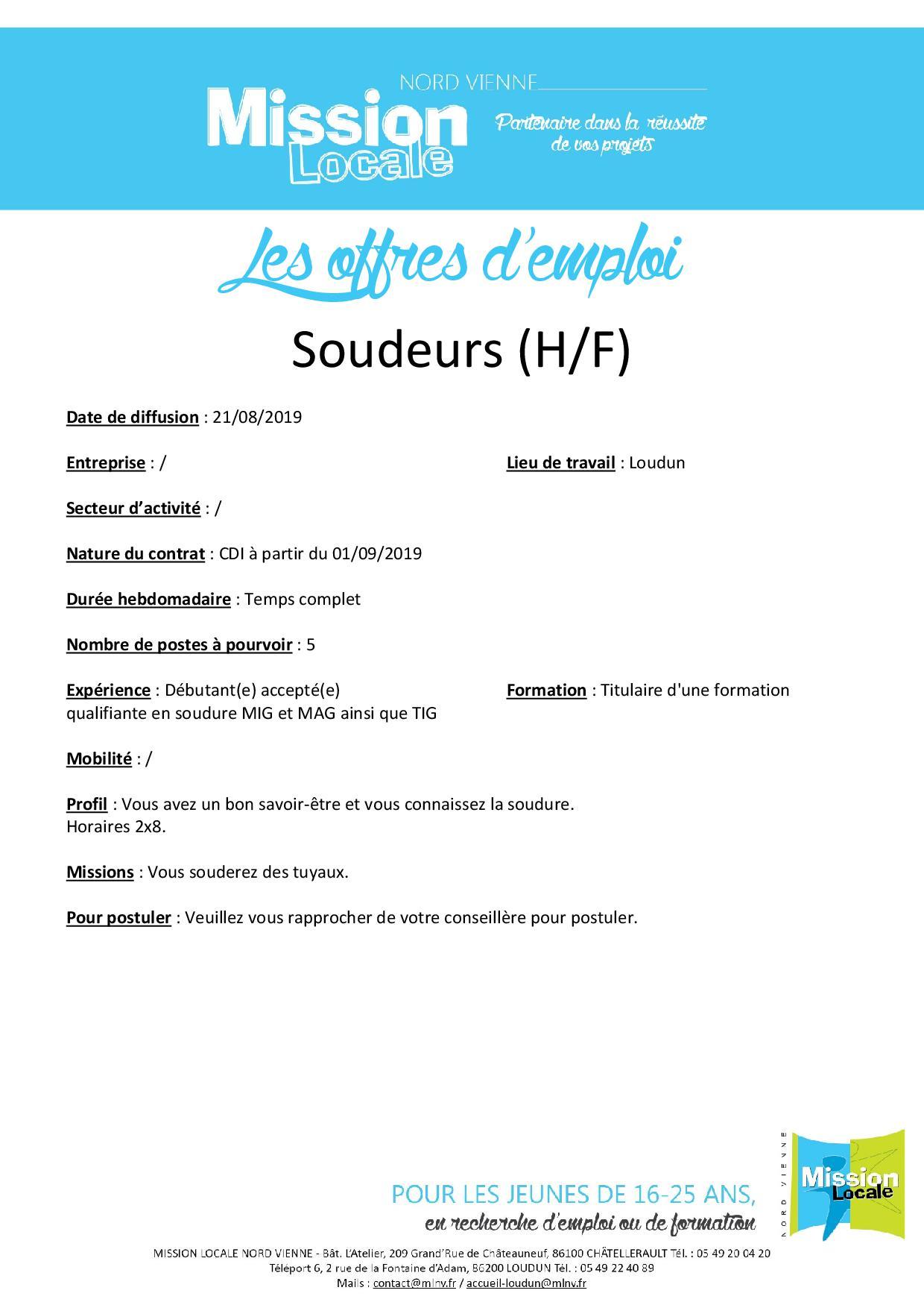 Soudeur (H/F)