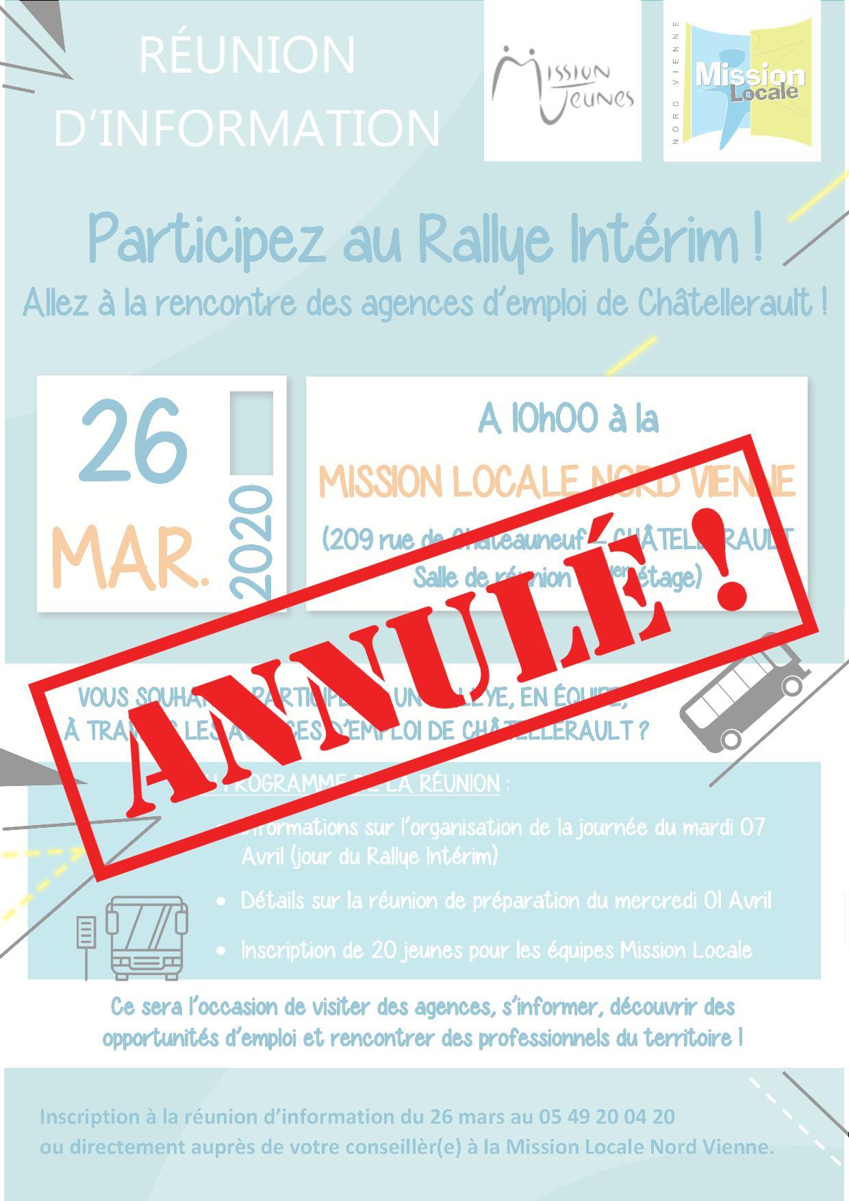 🚨 ANNULÉ – Réunion d'information : RALLYE INTÉRIM