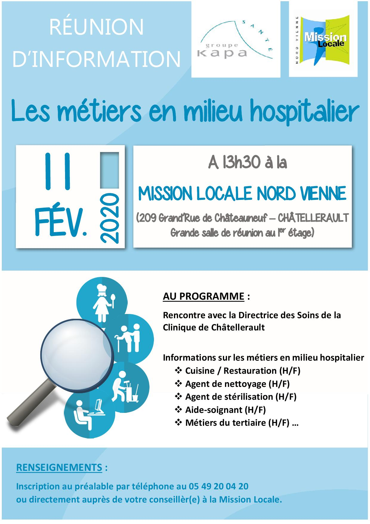 Réunion d'information : Les métiers en milieu hospitalier
