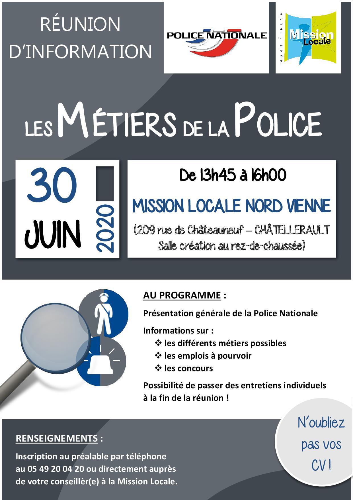 RÉUNION D'INFORMATION : Les métiers de la Police