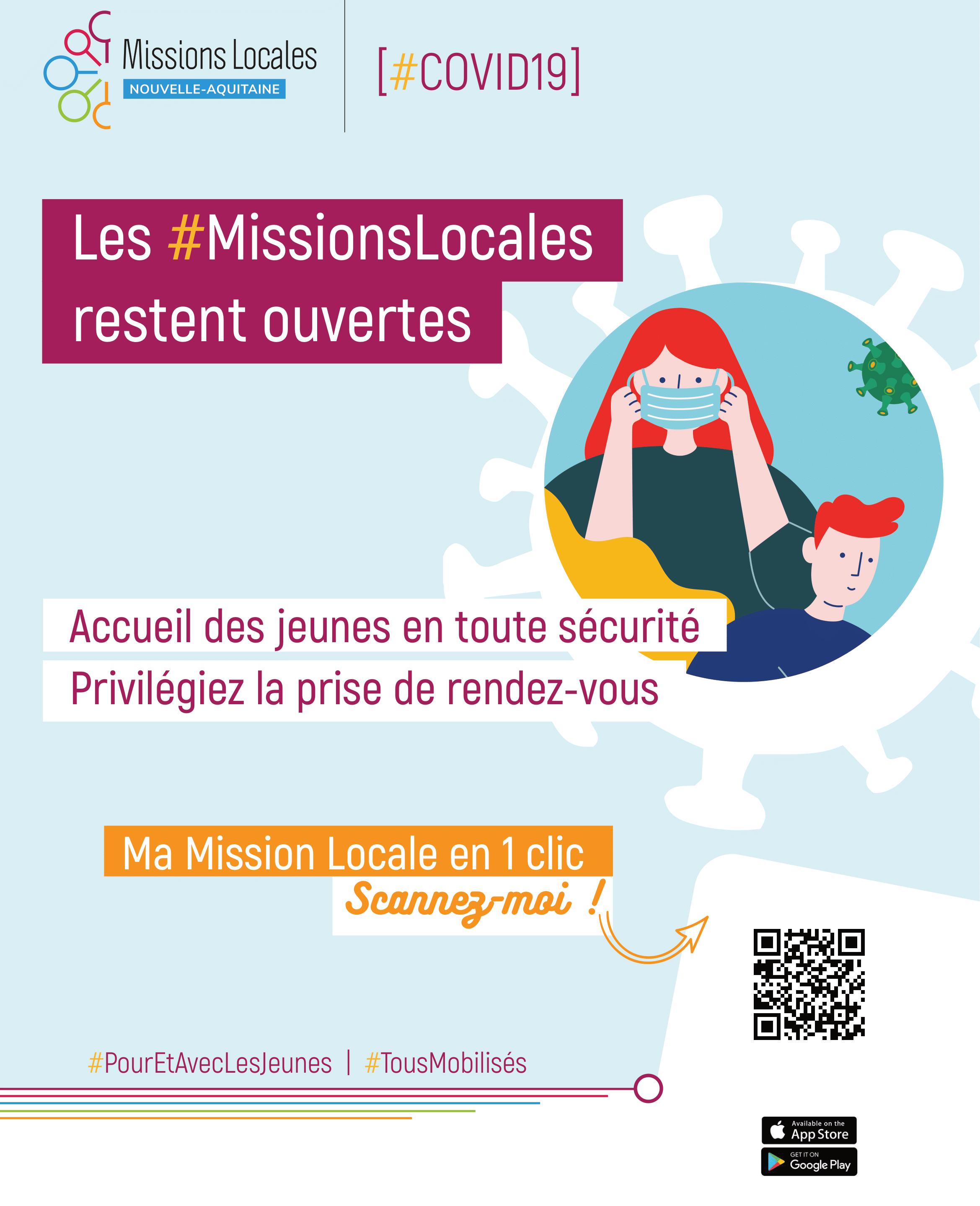 Confinement Acte 3 - La Mission Locale reste ouverte