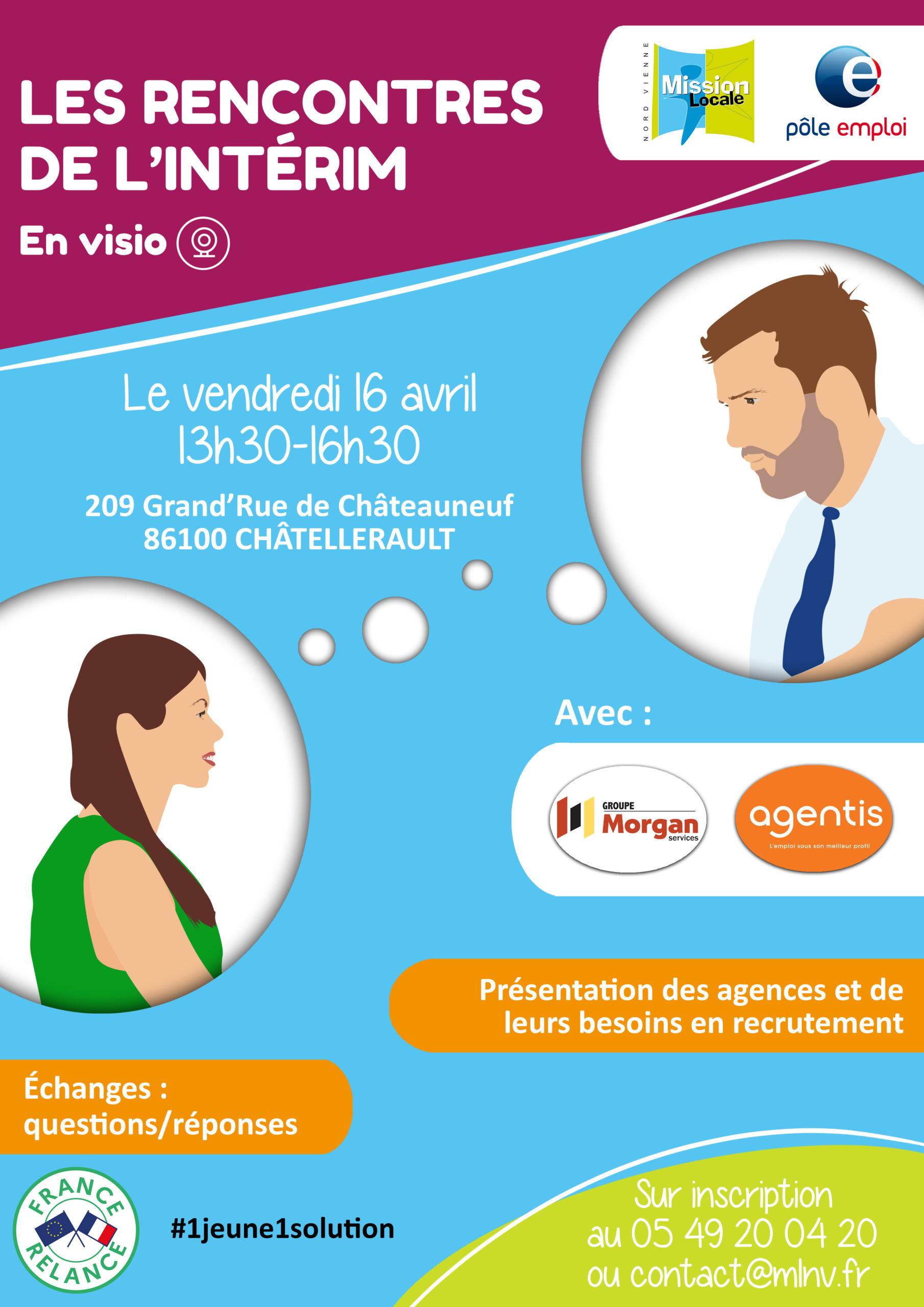🚨 ANNULÉ 🚨 Les rencontres de l'intérim, avec Morgan Services et Agentis • Châtellerault