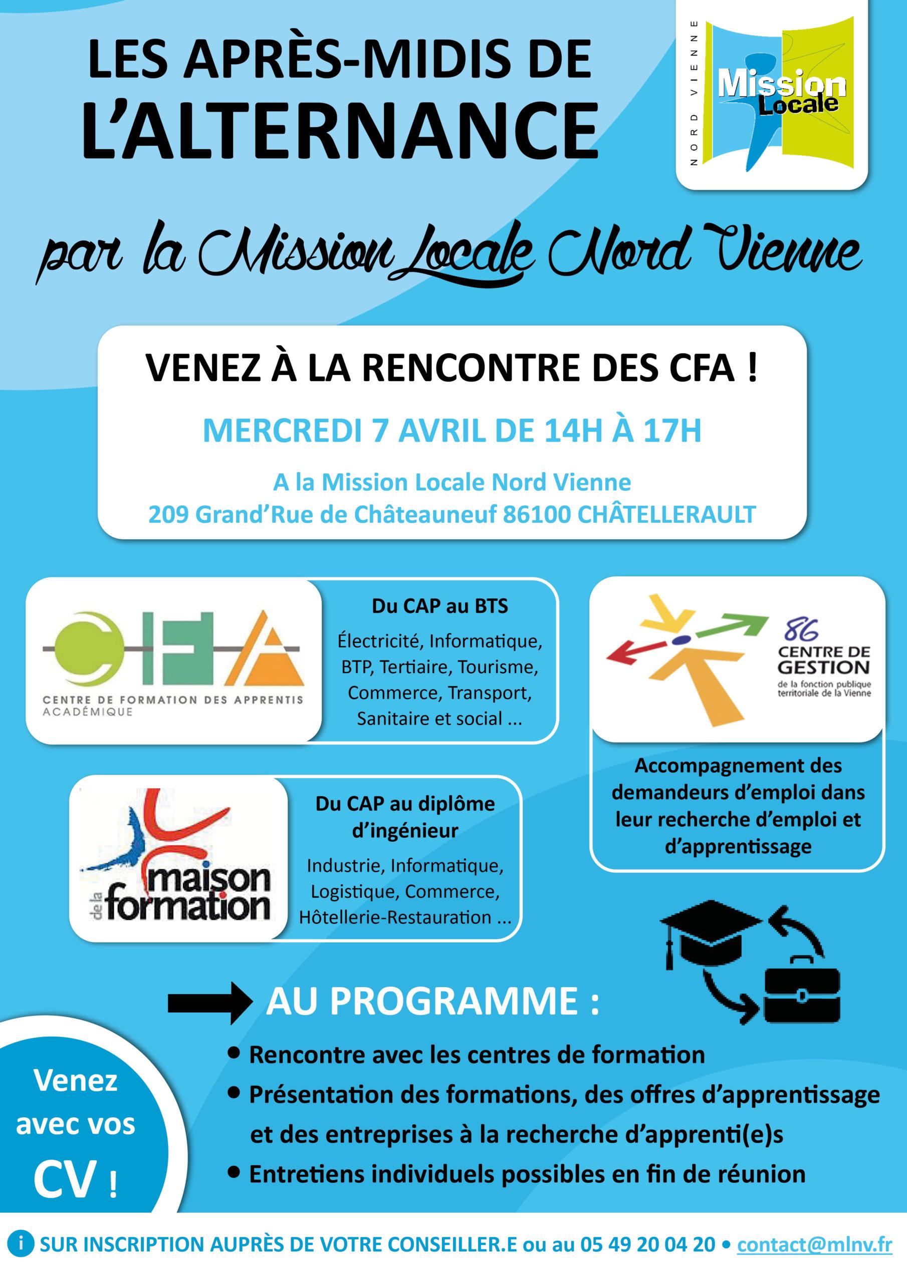 🚨 ANNULÉ 🚨 Les après-midis de l'alternance • 07/04/2021 •  Châtellerault